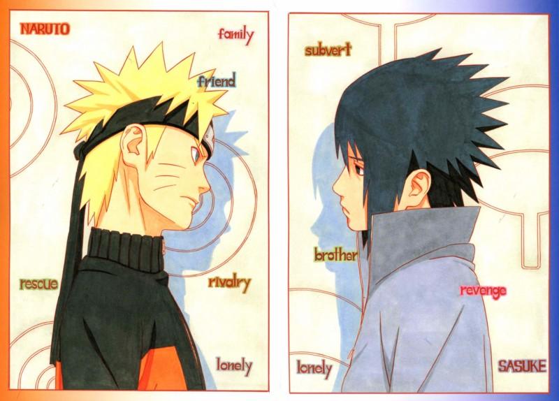 New Naruto Artbook | SHANNARO!!! Naruto And Sasuke Sad