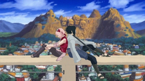 Sasuke_and_Sakura_Above_Konoha_by_blacksmiley