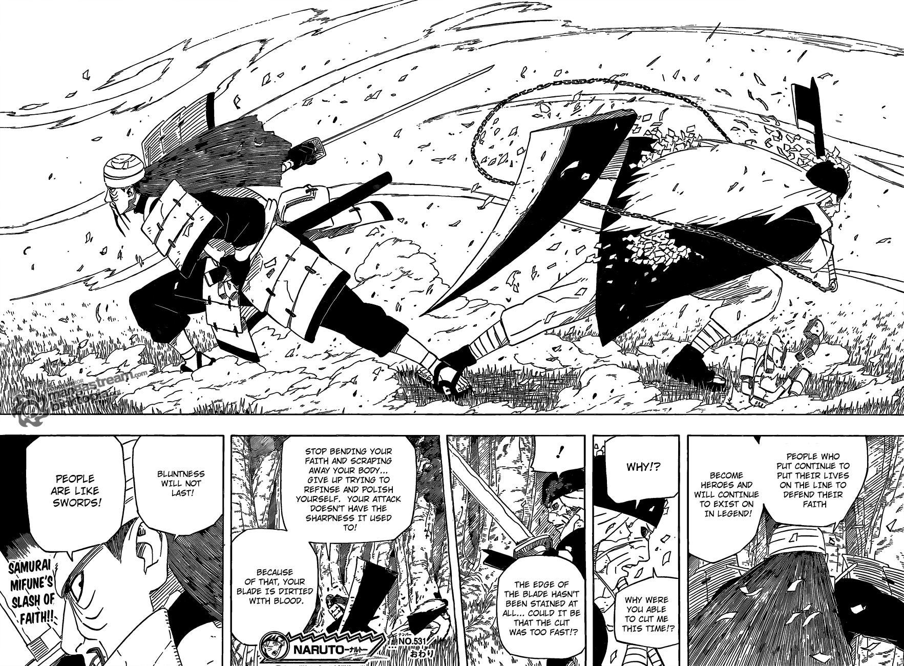 Naruto Chapter 531 – The Dull Blade | SHANNARO!!!