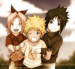 Naruto__Young_Team_7_by_HazuraSinner